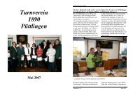Turnverein 1890 Püttlingen Mai 2007 - TV Püttlingen