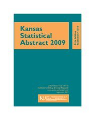 Kansas Statistical Abstract 2009 - Institute for Policy & Social ...