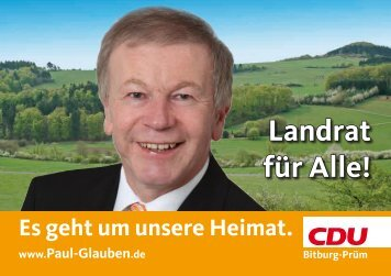 Landrat für Alle! - CDU-Kreisverband Bitburg-Prüm