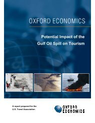 Potential Impact of the Gulf Oil Spill on Tourism - US Travel ...