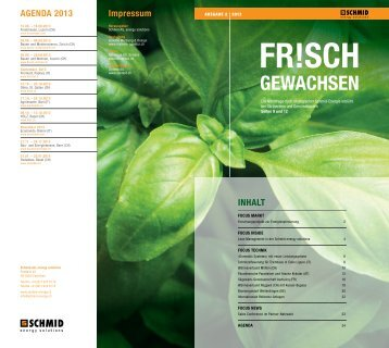 agenda 2013 - Schmid AG