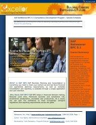 SAP NetWeaver BPC 5.1 Competency Development ... - Excellor