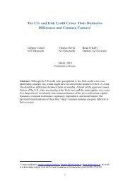 The US and Irish Credit Crises - Department of Economics, Finance ...