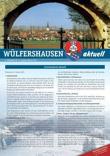 Ausgabe 02/2013 - Onlineseite der Gemeinde Wülfershausen ad ...