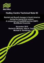 Hadley Centre Technical Note 83 - Met Office