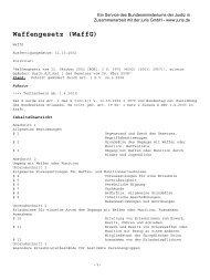Waffengesetz (WaffG)