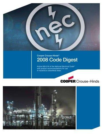 2008 Code Digest - Sawyer Systems LLC