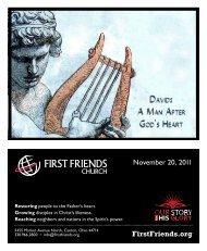 November 20, 2011 - First Friends Church