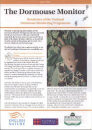 The Dormouse Monitor Spring 2002 - People's Trust for Endangered ...