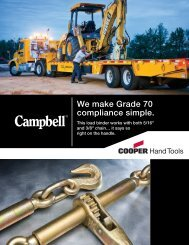 We make Grade 70 compliance simple. - Cooper Hand Tools