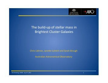 The build-up of stellar mass in Brightest Cluster Galaxies
