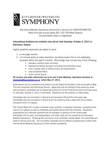 Kitchener Waterloo Symphony
