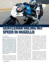 Circuit beim Gentleman Racing in Mugello - Speer Racing