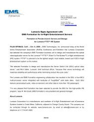 Lumexis Signs Agreement with EMS Formation for In-flight ...