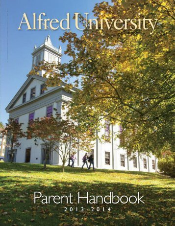View the 2013-14 AU Parent Handbook - Alfred University