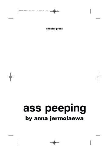 ass peeping - Onestar Press