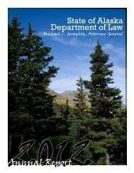 Annual Report 2012 - Alaska Department of Law