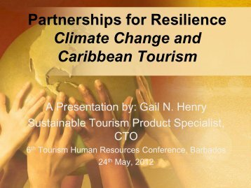 Partnerships for Resilience Climate Change and Caribbean Tourism