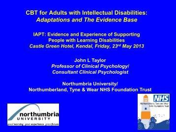 CBT IAPT evidence base John Taylor - Cumbria Partnership NHS ...