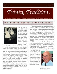 2009 newsletterrevised - Trinity Catholic High School