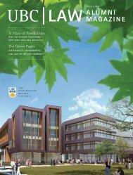 UBC LAW ALUMNI MAGAZINE - University of British Columbia ...