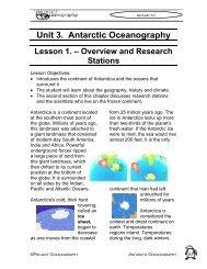 Unit 3. Antarctic Oceanography - College of Marine Science