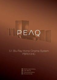 5.1 Blu-Ray Home Cinema System PBR510HC - PEAQ