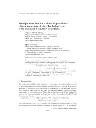 Multiple solutions for a class of quasilinear elliptic ... - Ngô Quốc Anh