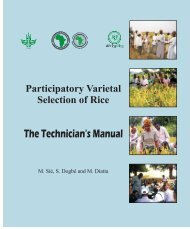 Participatory varietal selection of rice - The technician's manual