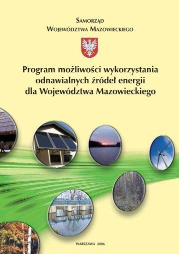 Program możliwości wykorzystania odnawialnych źródeł energii dla ...