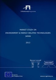 2013 Environment and Energy related Technologies Japan Market Study