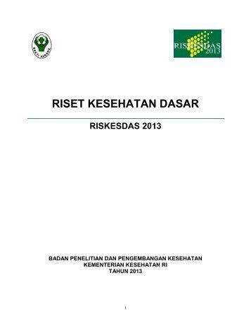 Hasil Riskesdas 2013