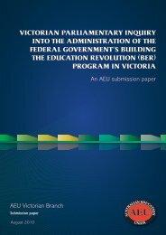 jg ber inquiry aeu submission - Australian Education Union ...
