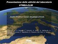 Analisi climatica e scenari: dal globale al locale