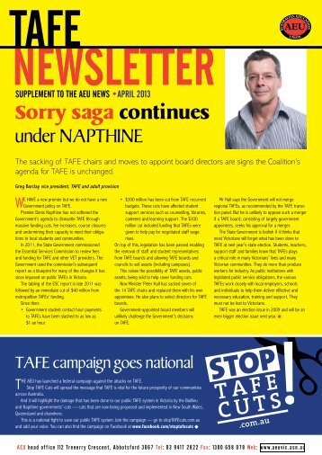 Download this newsletter - Australian Education Union, Victorian ...