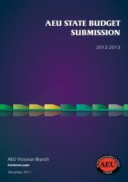 State Budget Submission 2012 - Australian Education Union ...