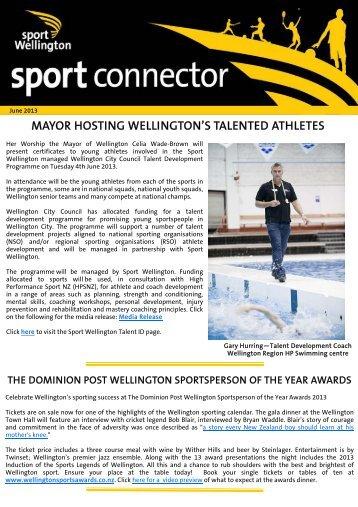June 2013 - Sport Wellington