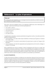 Référence 6 Le plan d'opérations - Africa Rice Center