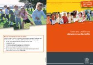 Foster and kinship care - allowances and benefits - Department of ...