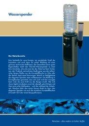 Datenblatt Wasserspender (pdf-Datei)