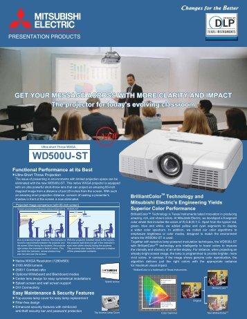 WD500U-ST - Mitsubishi Electric Sales Canada Inc.