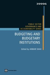 Public Sector Governance and Accountability Series: Budgeting and ...