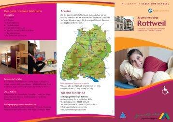 aktueller Hausprospekt - Jugendherberge Rottweil