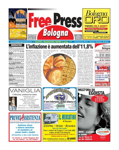 Dondi Salotti Castel Maggiore.L Inflazione A Aumentata Dell 11 8 La Tribuna