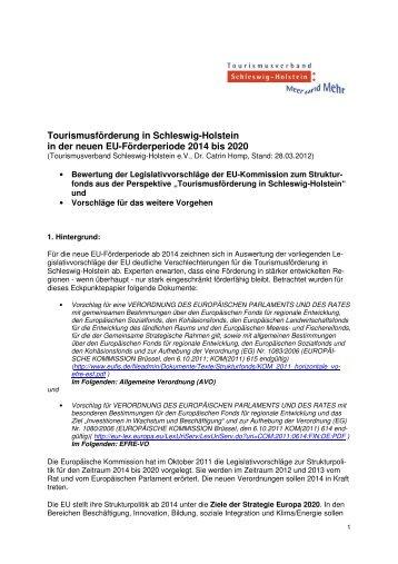 TVSH-Eckpunktepapier zur EU-Förderperiode ab 2014