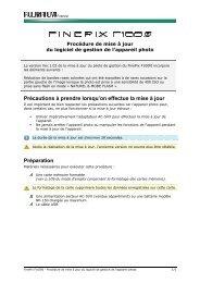 FinePix F100fd - Procédure de mise à jour du - Fujifilm France