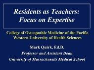 Residents as Teachers - Western University of Health Sciences