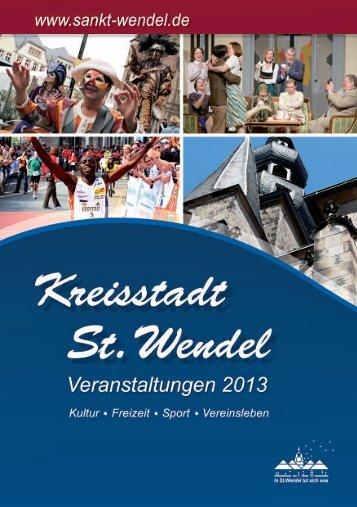 St. Wendeler Veranstaltungskalender 2013 - Stadt St. Wendel