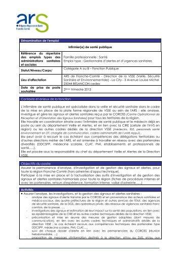 Fiche détaillée de l'appel à candidature pour le poste d'infirmier en ...
