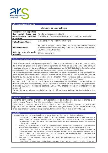 58d1eaf1464 Fiche détaillée de l appel à candidature pour le poste d infirmier en .